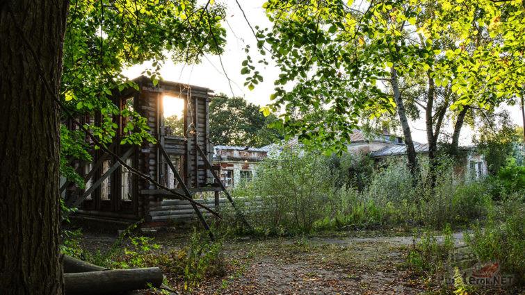 Руины в парке заброшенного пионерлагеря