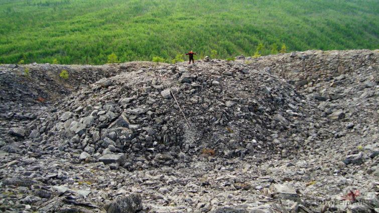 Турист на вершине Центральной горки