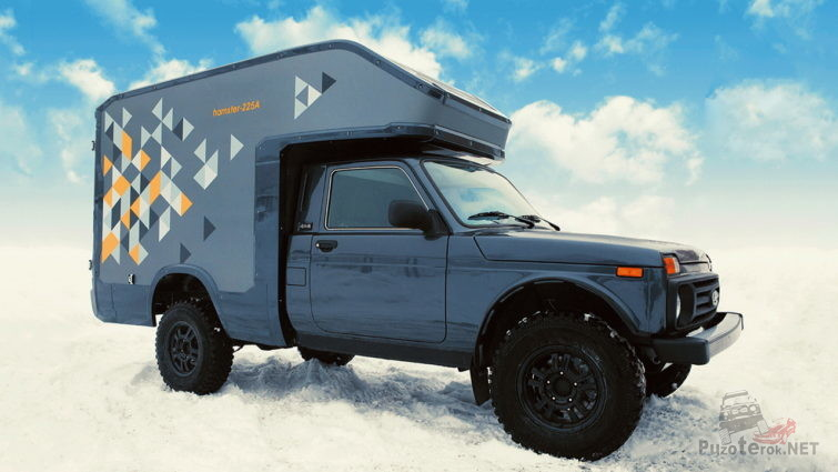 Фургон для путешествий на базе Lada 4x4