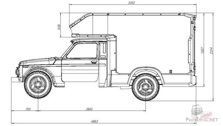 Схема нивы-фургона
