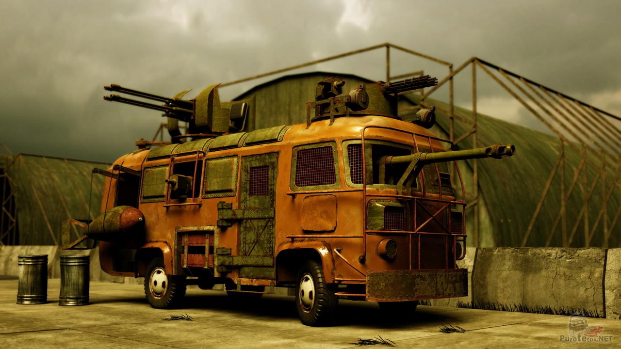 Автобус выживальщика для зомби апокалипсиса