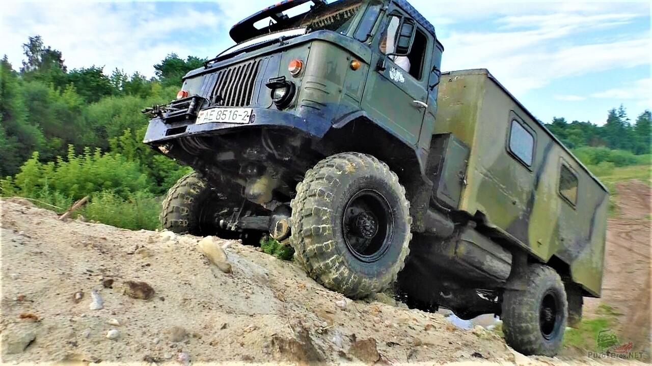 ГАЗ-66 на бездорожье (видео)
