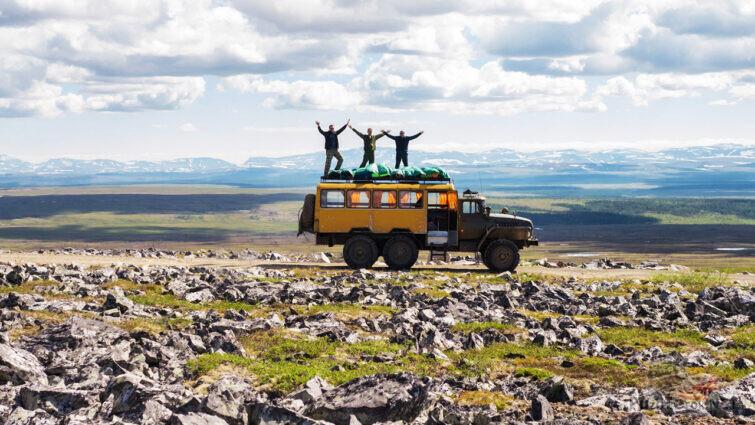 Автотуристы в национальном парке Югыд Ва