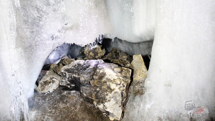Фрагмент ледника в Аскинской пещере