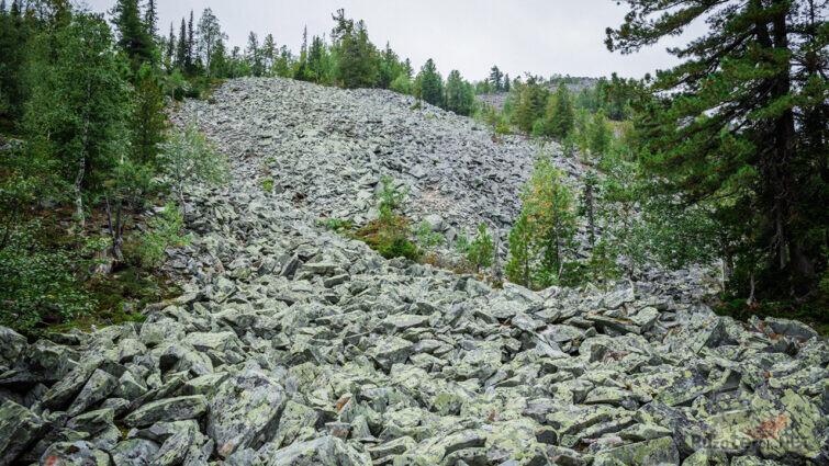 Каменистые залысины на пути к плато