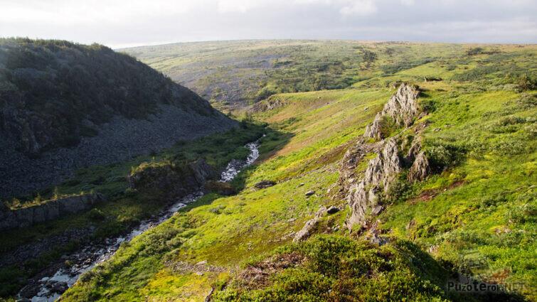 Каменная речка на плато Кваркуш
