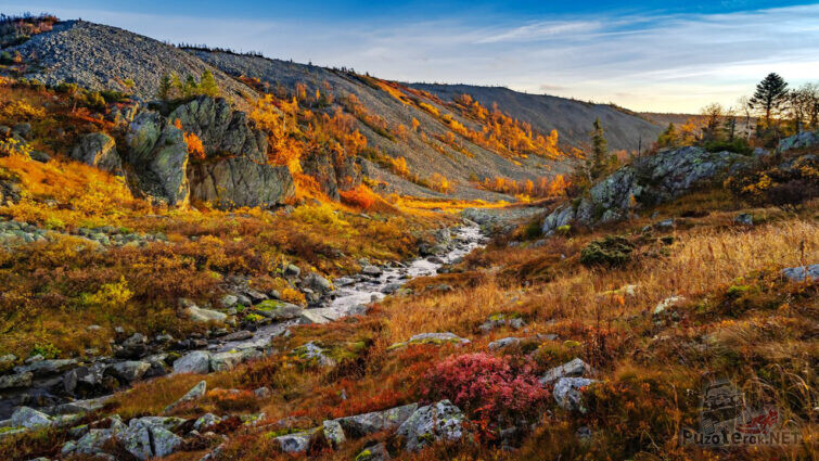 Осенний рассвет на реке Жигалан