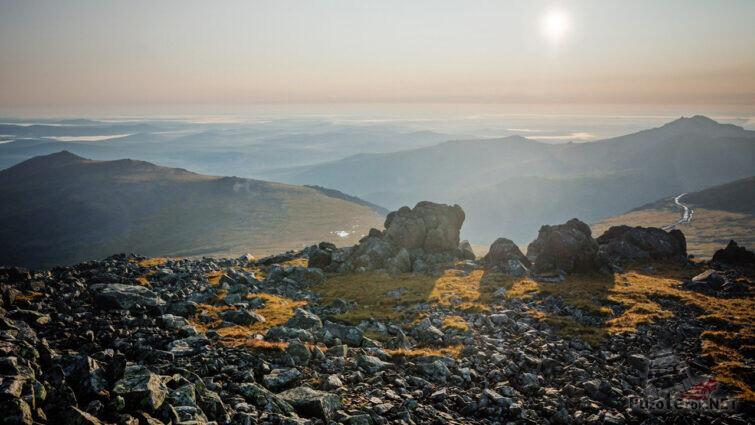 Рассвет над Уральскими горами
