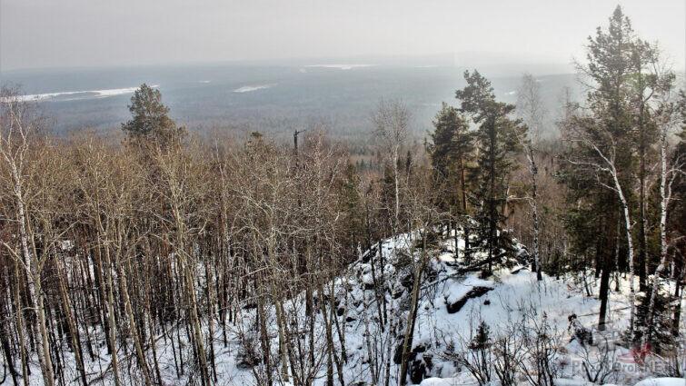 Вид с верхней точки Весёлых гор