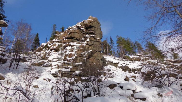 Живописная вершина горы