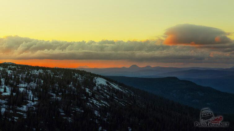 Закат над плато Кваркуш